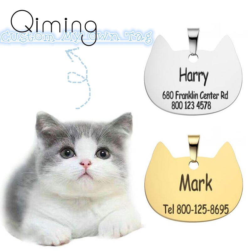 Anti-lost Animal Name Tags Pendant For Cat Dog Personalized Engraved Custom Cats Dogs ID Tag Pet Collar Accessories