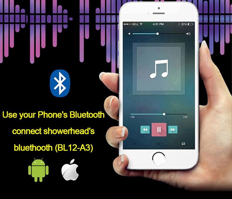 H55cccc0b659741f688bdabe9193d28a15 M Boenn Music Shower System Rain ShowerHeads LED Shower Set Bathroom Faucet Thermostatic Valve Matte Black/Chrome Bath Mixer Tap