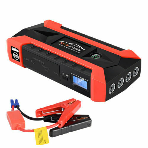 89800mAh 12V Car Jump Starter Pack LCD 4 USB Charger Battery Power Bank Fast Charging Car Emergency Start Power