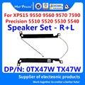 Новый набор динамиков для ноутбука-R + L левый и правый для Dell XPS 15 9550 9560 9570 7590 5510/Precision 5520 5530 5540 M5510 0TX47W TX47W