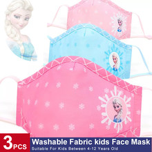 Crianças algodão boca máscara facial respirável lavável máscaras de cobertura para meninos meninas mão costura fasion padrão reutilizável gelo princesa