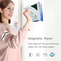 Double Side Glass Cleaning Brush Window Cleaner High Building Glass ABS Magnetic Force Sturdy Household Cleaning Tools Washing|Cleaning Brushes| |  -