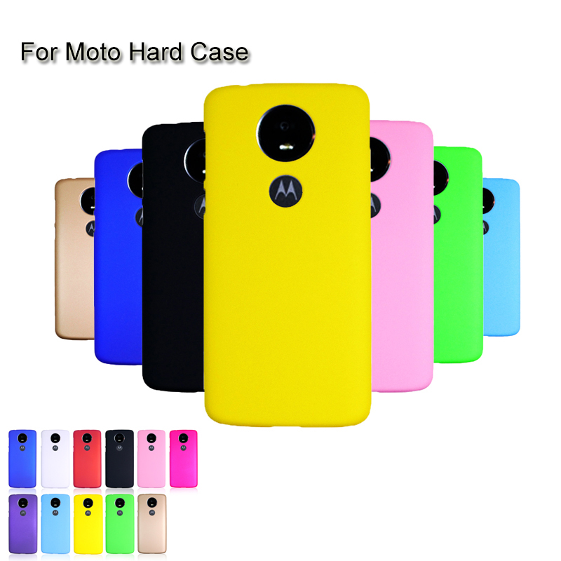 Candy Color Hard PC Plastic Matte Case For Motorola Moto G8 E6 Plus Z4 G7 P30 E5 Play P40 One Vision G7 One Power Case Cover