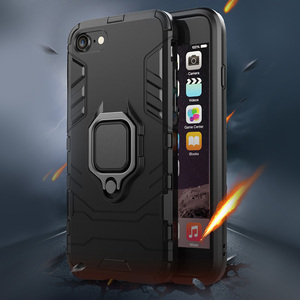 Luxury Armor Shockproof Phone Case For iPhone Xs Max X 7 6 6s 8 Plus Soft TPU Protective Cover For iPhone 5 5s Hard PC Back Case(China)