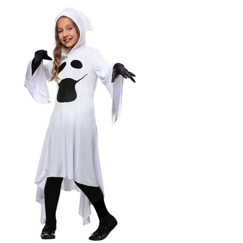 ใหม่ฮาโลวีน Skull Skeleton ปีศาจ Ghost COSPLAY เครื่องแต่งกายผู้ใหญ่เด็กเด็ก Carnival Masquerade เสื้อคลุมน่ากลัว