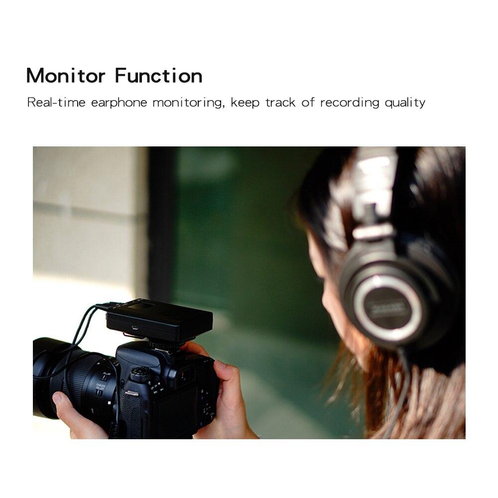 função de monitor uhf lapela sem fio
