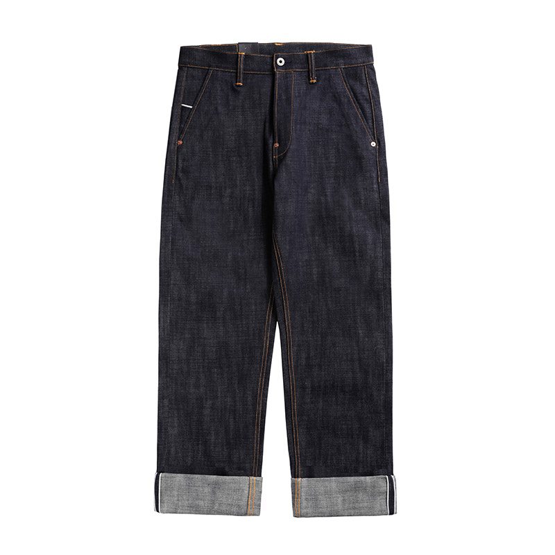 DN-0004 Read Description! Heavy Weight 18oz Raw Indigo Selvage Unwashed Denim Pants Unsanforised Thick High Waist Raw Denim Jean