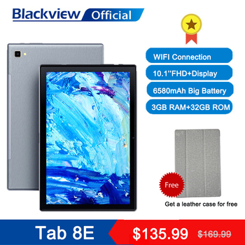 Blackview Tab 8E 10.1 Inch Android 10 WIFI Tablet PC 3GB RAM 32GB ROM 13MP Rear Camera 6580mAh Battery Octa Core Dual Speakers 1