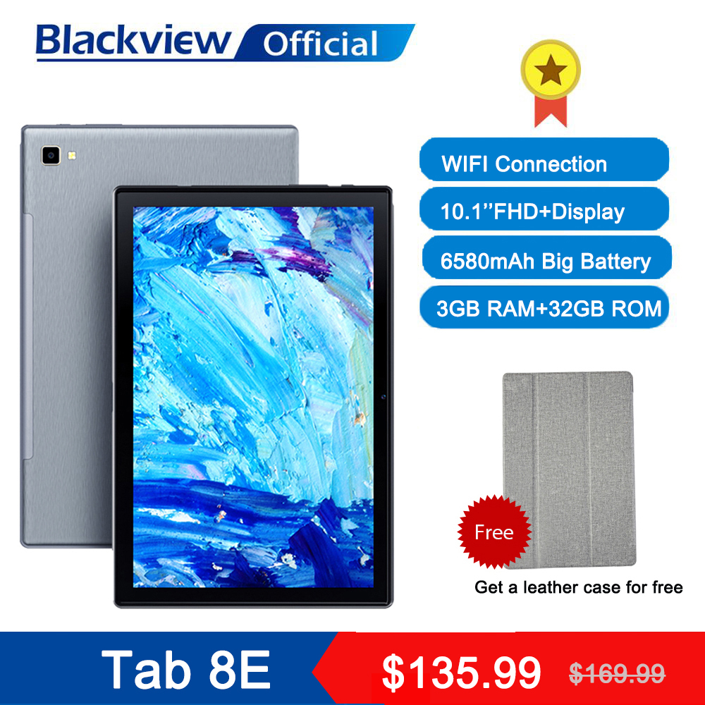 Blackview Tab 8E 10,1 дюймов Android 10 WI-FI планшетный ПК, 3 Гб оперативной памяти, Оперативная память 32GB Встроенная память 13MP сзади Камера 6580 мА/ч, Батарея ...