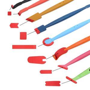 Image 2 - EHDIS 32PCS vinile pellicola per Auto avvolgere magnete Stick tergipavimento Set finestra tinta bordo feltro morbido raschietto adesivo in fibra di carbonio Kit di strumenti Auto