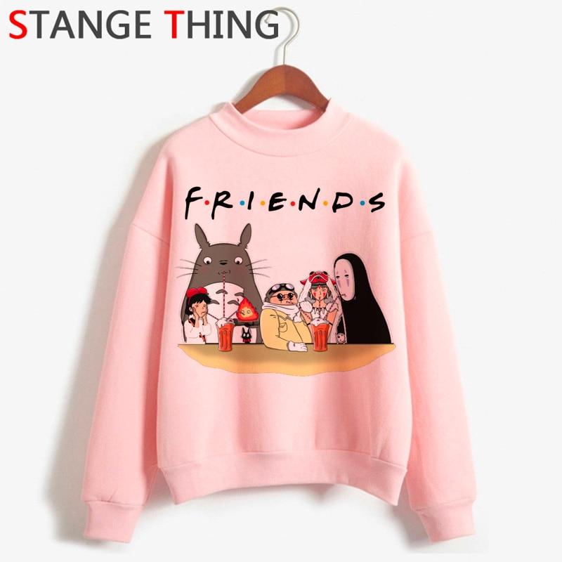 Totoro Studio Ghibli Kawaii Harajuku Anime Hoodies Women Funny Cartoon Ullzang Sweatshirt Cute 90s Graphic Fashion Hoody Female