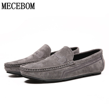 Men Loafers Genuine Leather Driving Boat Shoes Comfortable M