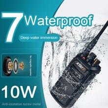 Rádio walkie talkie de 10w, walkie talkie portátil, dois sentidos, rádio comunicador, woki toki, scanner, antena de longo alcance, ksun