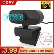 Webcam 1080p completo hd câmera web com microfone usb plug webcam para computador portátil mac desktop youtube skype mini câmera