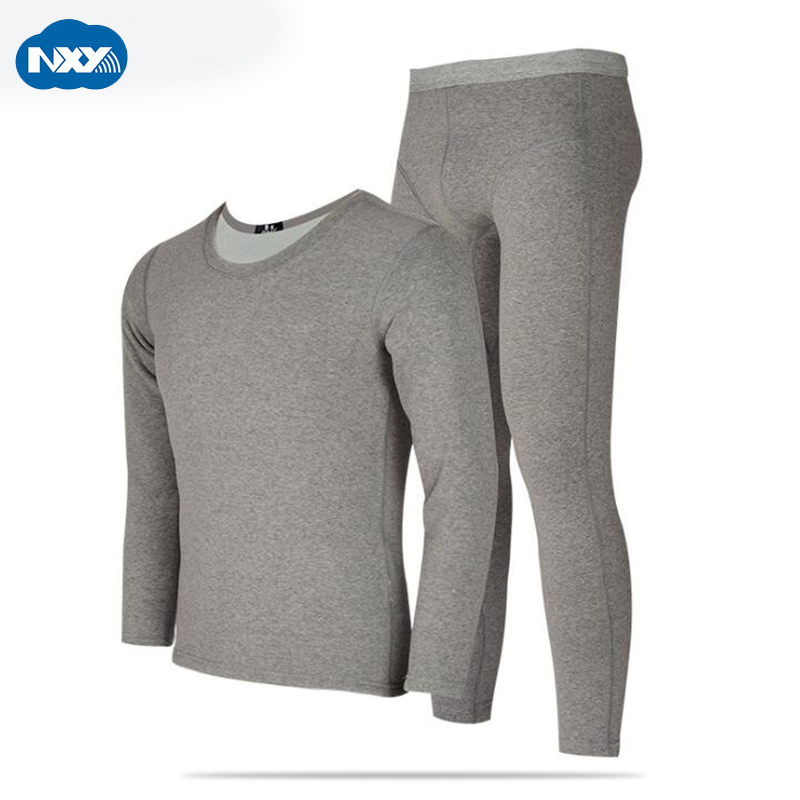 NXY Thick Thermal Underwear Men Long Johns Cotton Mens Long Sleeve O-neck Clothes Thermo Pants Soft Sleepwear for Autumn Winter
