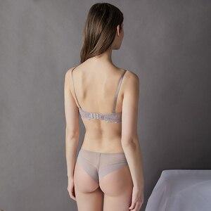 Image 3 - נשים הלבשה תחתונה סטי תחרה פנינת קישוט חזייה ותחתונים אדום חם חזיית סט סקסי חוטיני חלקות קצרים לדחוף את חזייה