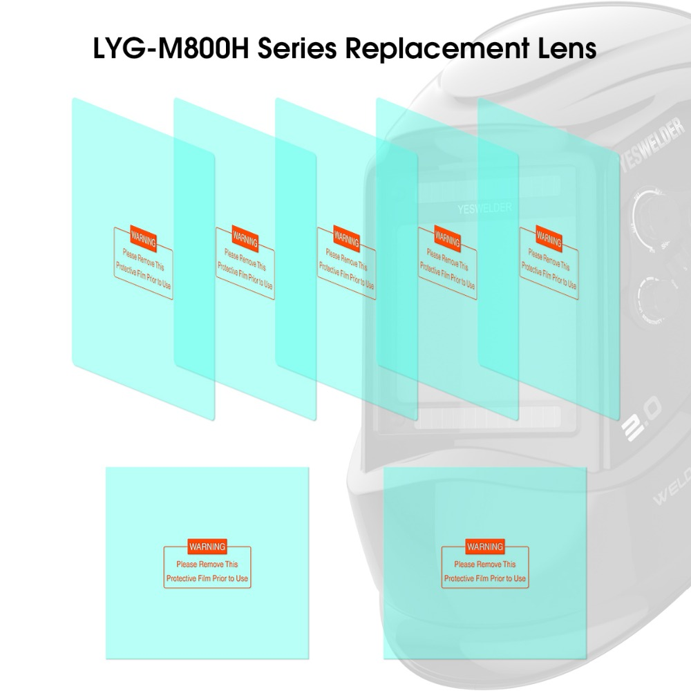5pcs Outside and 2pcs Inside Replacement Lenses for YESWELDER M800H Helmet