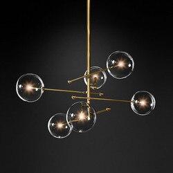 G4 LED żelazo postmodernistyczne szkło czarne złoto LED lampa LED Light. Pendant Lights. Lampa wisząca. Lampa wisząca do jadalni