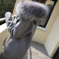 Long Hooded Woolen Coats Women Winter Warm Slim Long Sleeve Ladies Jackets Vogue Outwears Female Casual Korean Coat Wool Blends