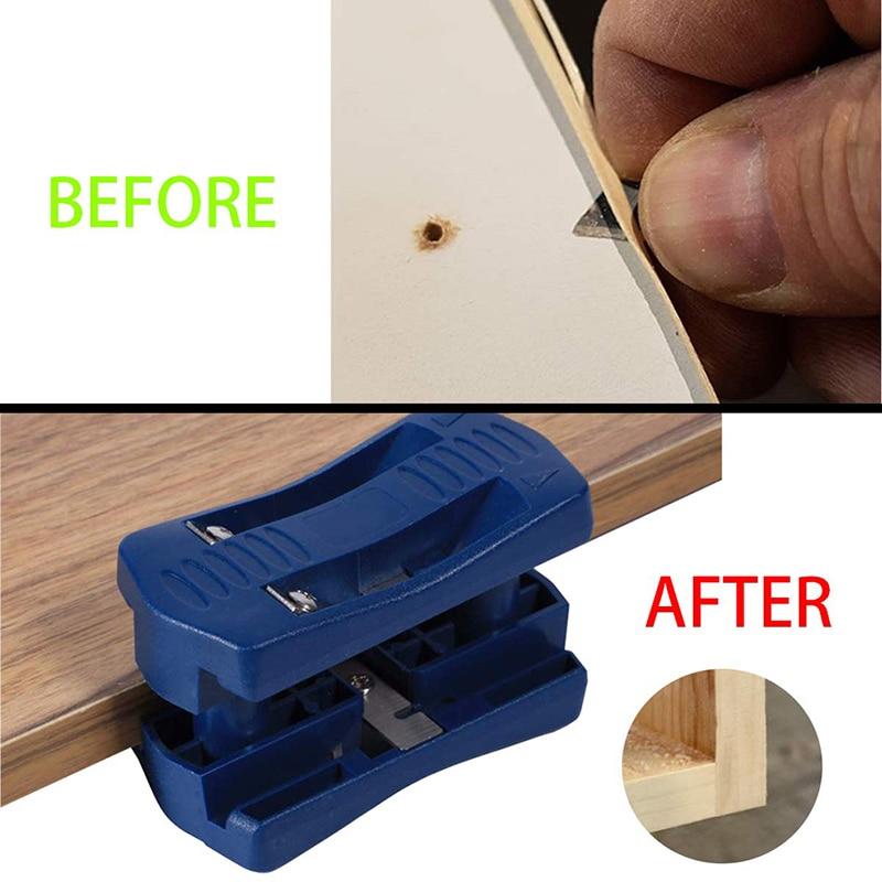 Universal Flat Head Woodworking Manual Edge Banding Machine Planer Sheet Edge Banding Straight Line Trimmer