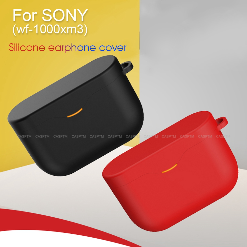 Funda de silicona para auriculares SONY WF-1000XM3, carcasa protectora de TPU suave para auriculares SONY WF 1000 XM3