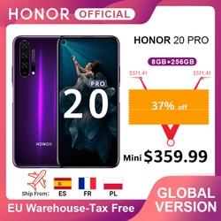 Перейти на Алиэкспресс и купить global version honor 20 pro google play smartphone 6.26''8gb 256gb kirin 980 octa core 48mp camera mobile phone android nfc