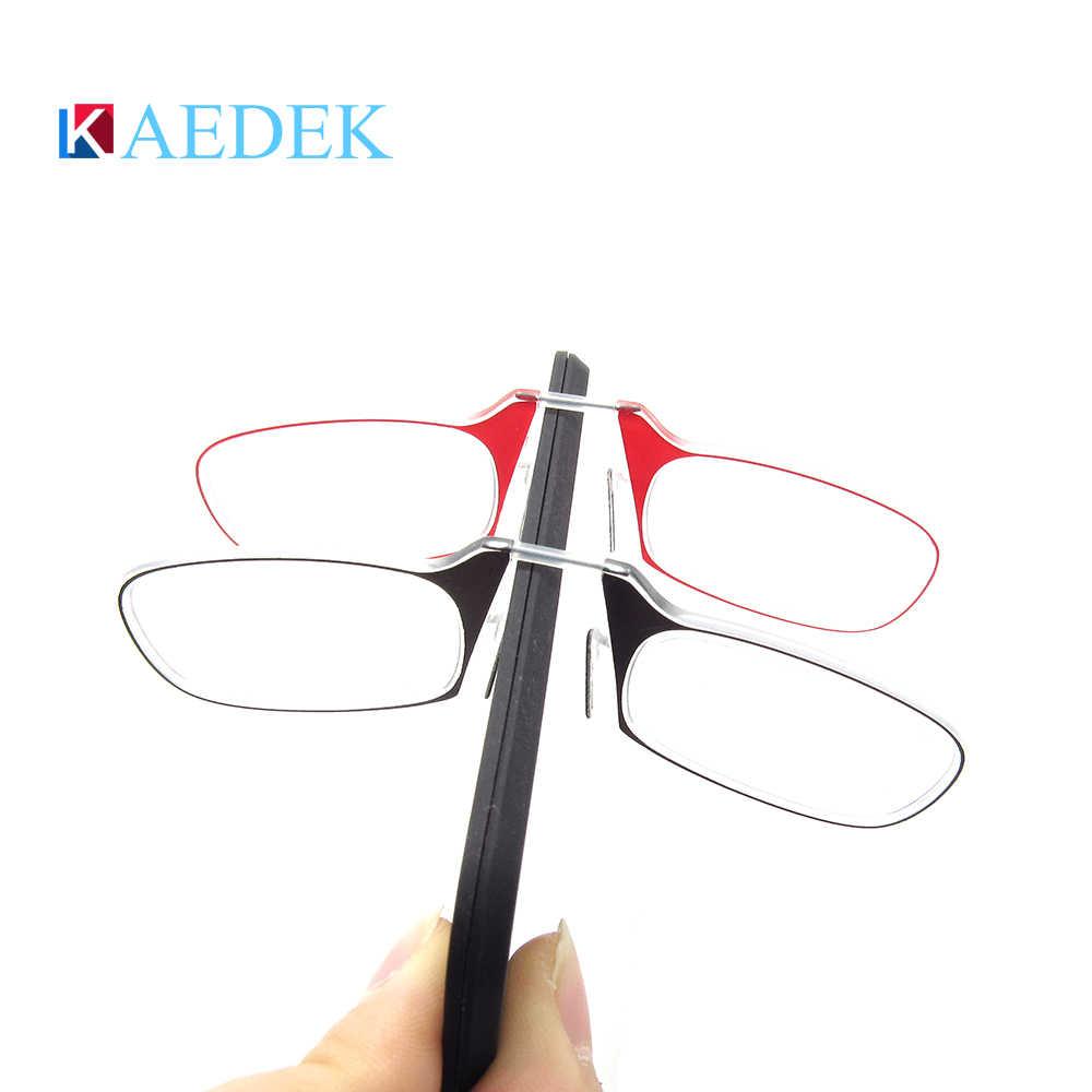 Ultralight Vision แว่นตาสำหรับชายหญิงกับกล่องสิทธิบัตรคลิปจมูกพกพา CLEAR Mini แบบพกพา glases diopterKR1510