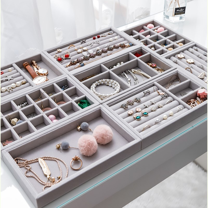MUMIMI Caja de almacenamiento de joyer/ía para anillos pendientes joyer/ía y anillo de alpaca de color rosa