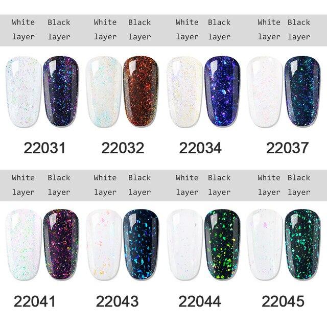 Elite99 Bling Chameleon Holographische Gel Polnischen Starry Sparkle Glitter Pailletten UV Gel Tränken Weg Nail art Lack Lack