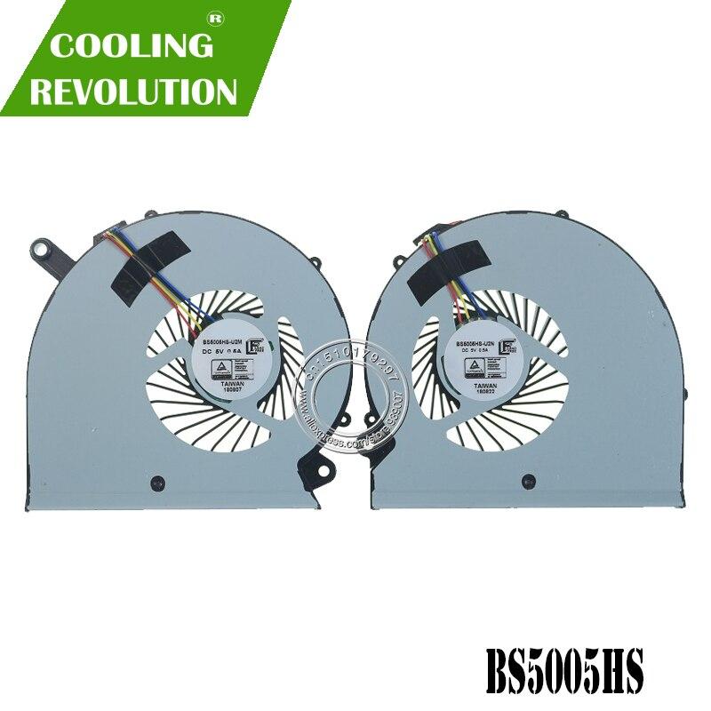 Novo ventilador de refrigeração para gigabyte rp64w rp65w aero 15 15x 15 x9 15w BS505HS-U2M cpu + gpu ventilador de refrigeração