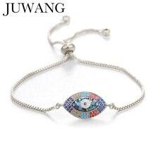 Turkish Zircon Evil Eye Charm Bracelets Bangles Gold/Rose Gold Adjustable Greek Lucky Jewelry For Female Men