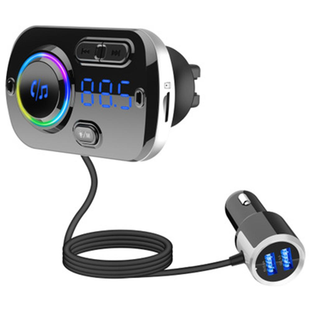 5.0 Bluetooth FM Transmitter Dual USB Fast Charger Hands-free MP3 Modulator Player Wireless Aux Audio Receiver Car Accessories