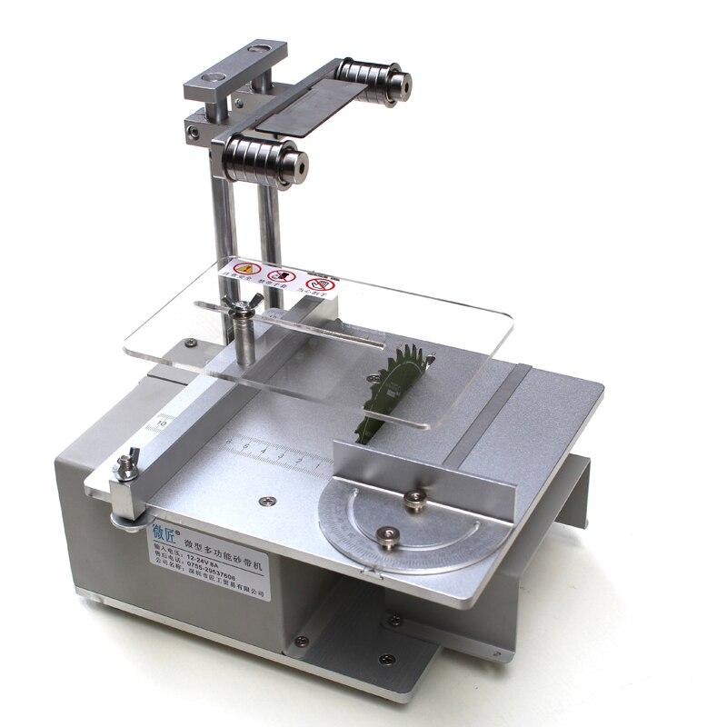 Polishing Machine Sanding Abrasive Belt Grinding Cutting Tools Drill Hole Electric Saw DIY Mini Table Saw циркулярная пила