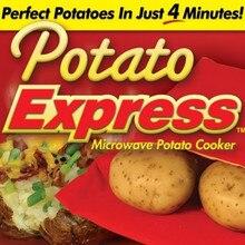 5 Pçs/lote Forno Microondas Baked Potato Red Bag Para Rápida Rápida (cozinhar 8 batatas de uma só vez) Em Apenas 4 Minutos Lavado Sacos de Batata