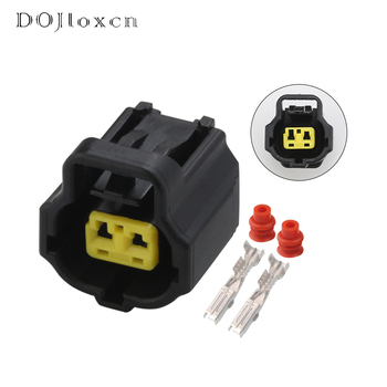 1 Set 2 Pin Tyco Toyota Camry Corolla Water Temperature Sensor Female Connector Plug 178390-2 image