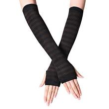 Fashion Cotton Sleeve Stripe Gloves Cosplay Ninja Gloves Fingerless Super Sleeve Men Women Fashion Sunscreen Warm Cuffs
