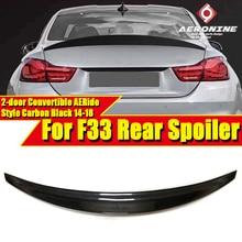 цена на Spoiler For BMW F33 2-doors Convertible Ride Style 4 Series 420i 428i 435i 430iGC 440i Car Back Lip Wing Carbon Fiber 2014-2018