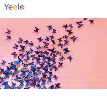 цена на Yeele Photocall Pink Bricks Wall Butterflies Ins Photography Backdrops Personalized Photographic Backgrounds For Photo Studio