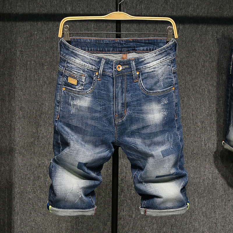 Summer Denim Shorts MEN'S Fifth Pants Straight-Cut Loose And Plus-sized Slim Fit Summer Thin Breeches Casual Jeans