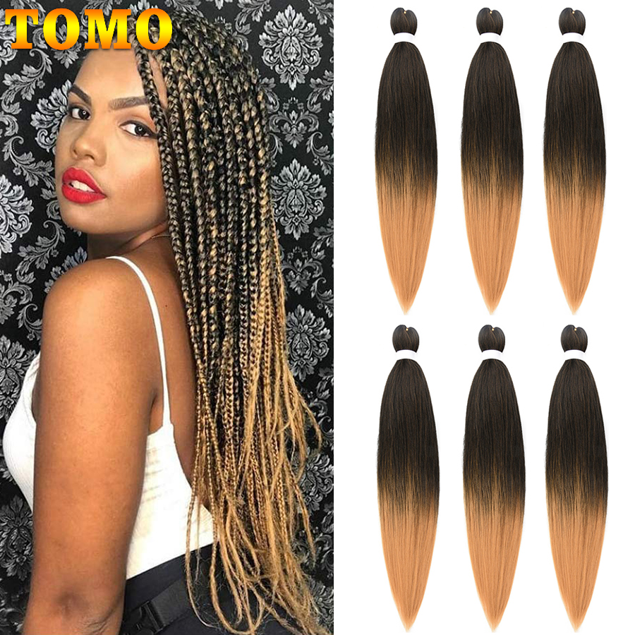 TOMO Braiding Hair Pre Stretched Easy Braid Hair Synthetic Yaki Texture Not Itchy Hot Water Setting Hair for Senegalese Twist hair 24 hair synthetichair extension - AliExpress
