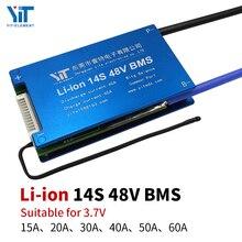 Placa de protección de accesorios para patinete eléctrico, batería de ion de litio de 3,6 V/3,7 V, 14S, 48V, BMS con control de temperatura equilibrado PCB