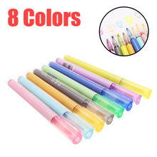 8 farben Doppel Linie Umriss Stift Farbe Marker Pinsel Stift Student Kinder DIY Malerei Zeichnung Kritzeln Stift Set