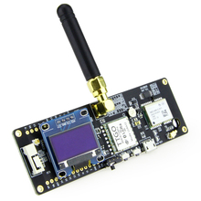 цена на TTGO T-Beam ESP32 433/868/915Mhz WiFi Wireless Bluetooth Module ESP 32 GPS NEO-6M SMA LORA 32 18650 Battery Holder With OLED