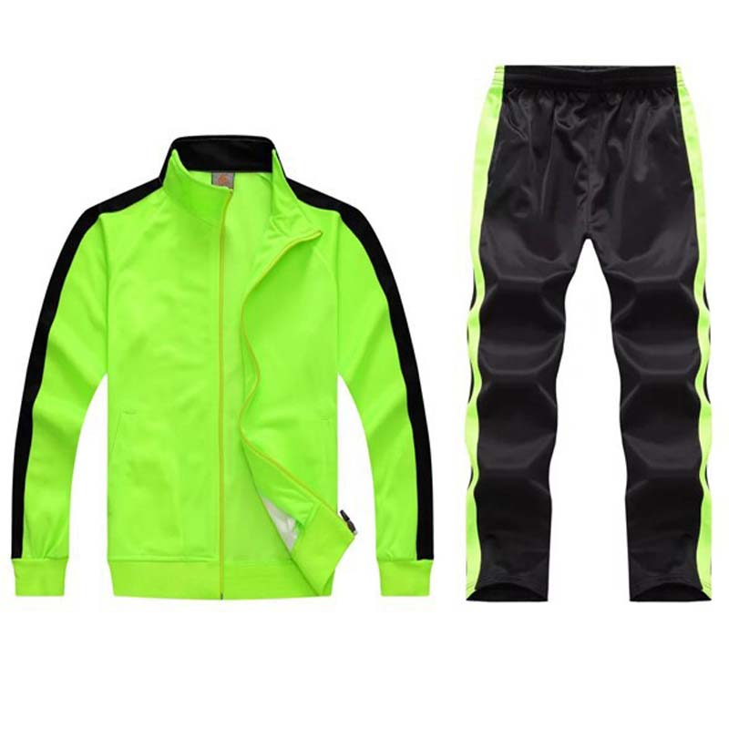 Image 5 - tracksuit men sport suits football training sweat suits school uniform jogging sportswear teengers track suits casual outfits-in Men's Sets from Men's Clothing
