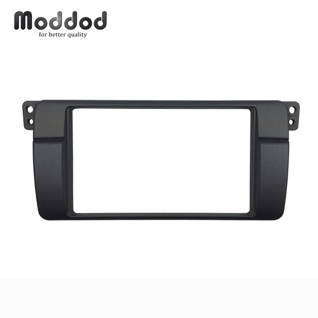 One or Double Din Radio fascias for BMW 3 Series E46 1998 2005 DVD Stereo Panel Dash Mount Refitting Trim Kit Frame CD Bezel
