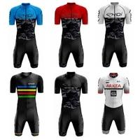 2019 Men's ekoi High Quality Cycling Skinsuit Triathlon Mtb Bike Sport Clothes Maillot Ciclismo Jumpsuits Road Bike Suits