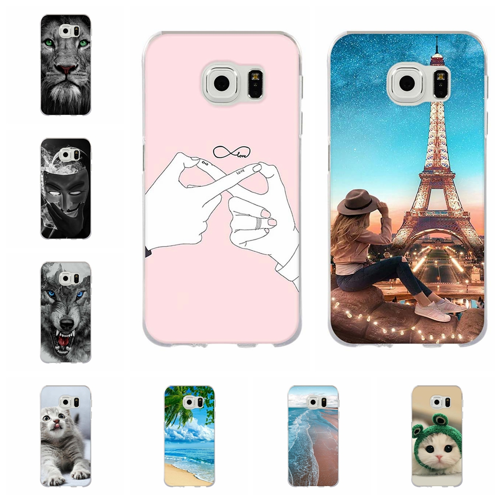 For Samsung Galaxy S6 Case Soft Silicone G920 G920F Cover Animal Patterned Coque Bag
