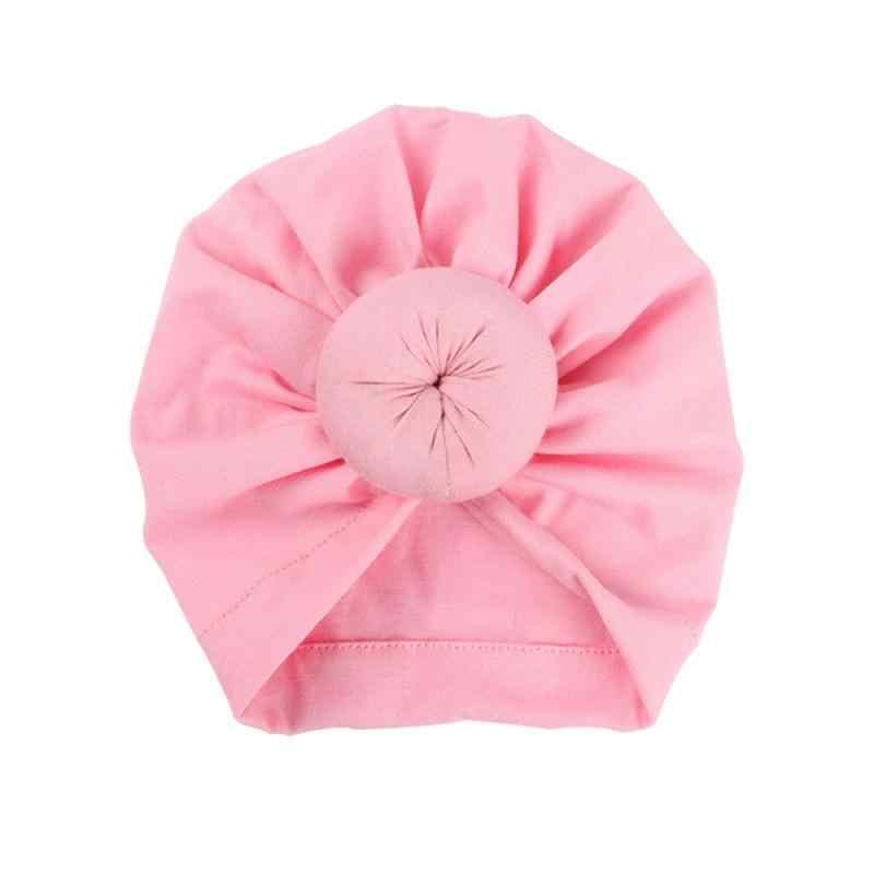 ילדים חמוד כובעי יילוד פעוט תינוק ילד ילדה הודי טורבן קשר כותנה בנדנות כובע מוצק צבע סוודר כובע יוניסקס