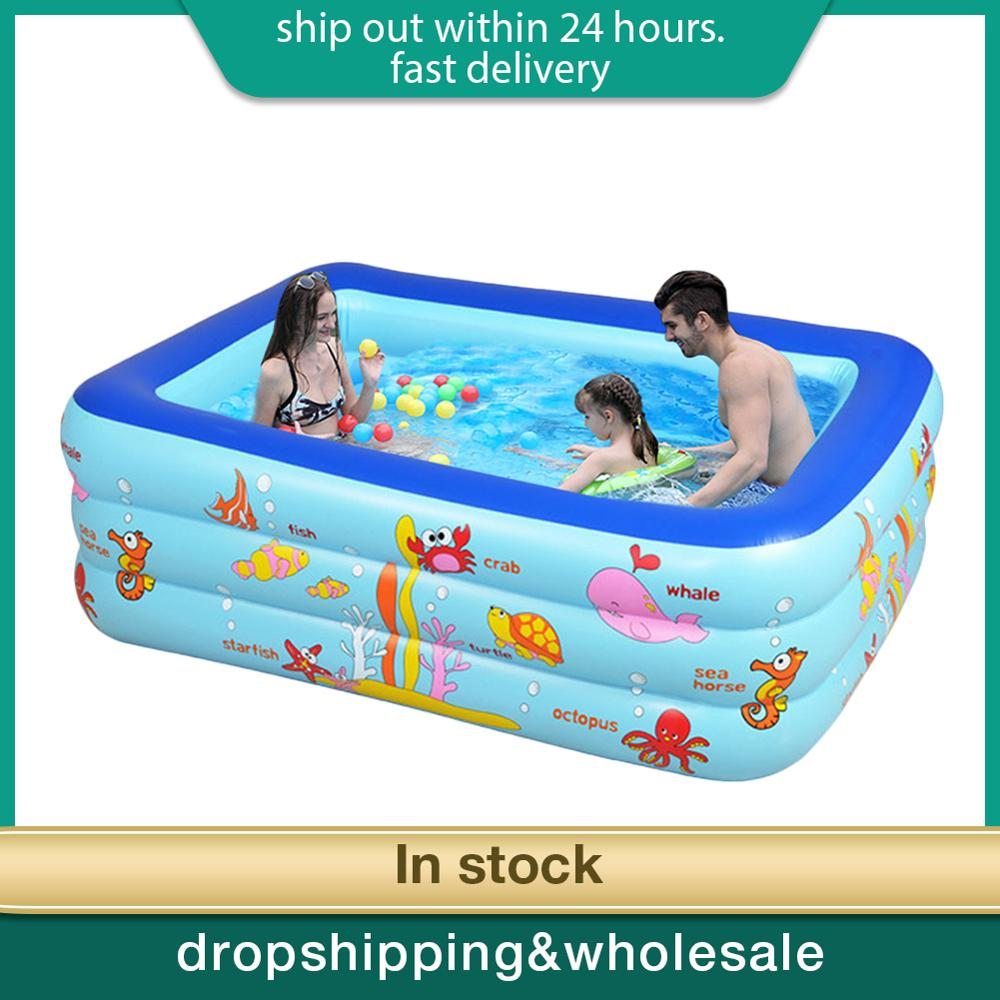 Inflatable Pool Water Play Pool In Summer Children's Inflatable Swim Center Family Swimming Pool Ball Pit