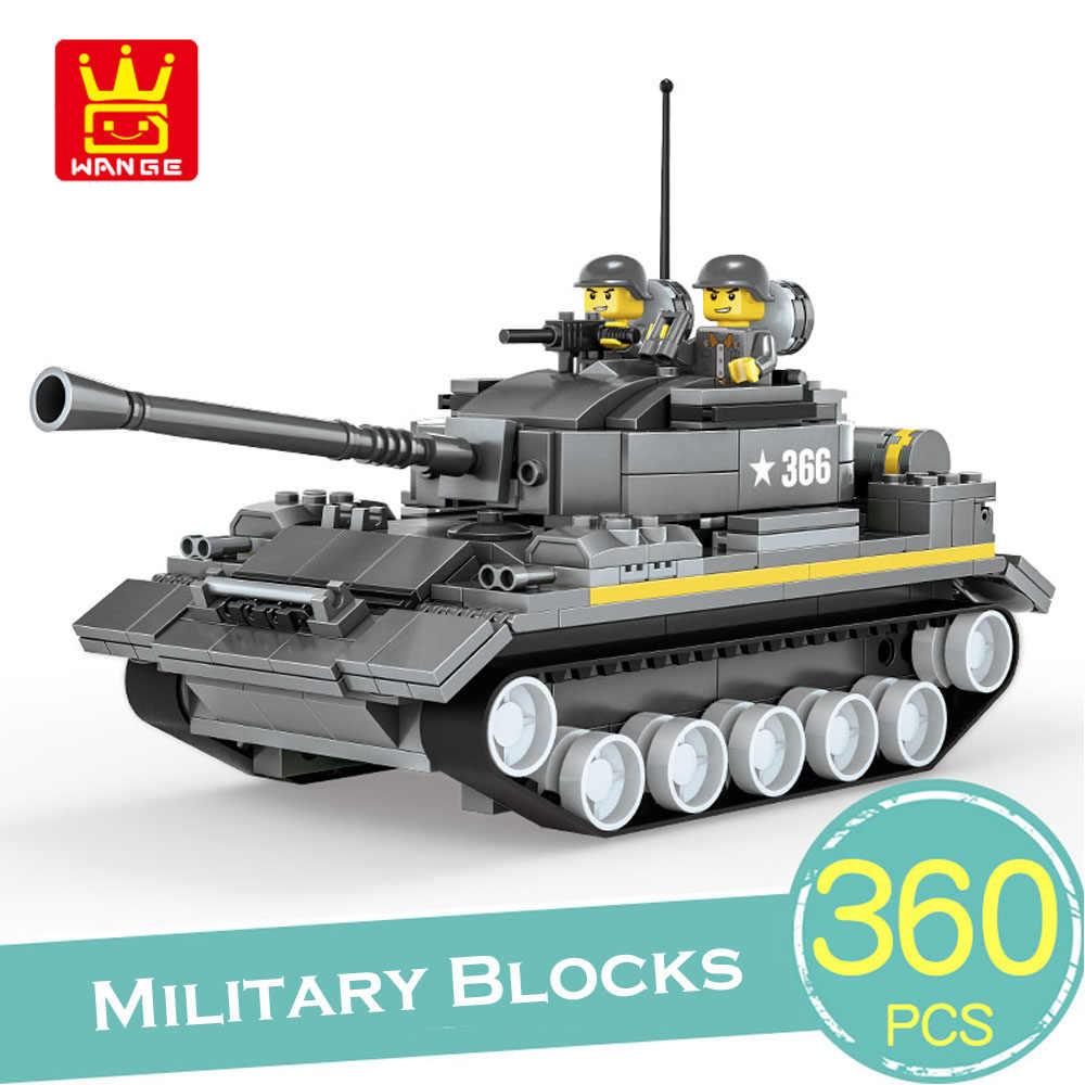 Wange 360 pçs blocos de construção blocos de caminhão tanque militar compatível lepining educacional tijolo caminhão veículo brinquedos crianças presente